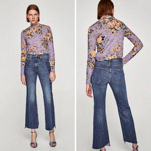 Zara Real Slim Flare Jeans Samurai Blue Size 4